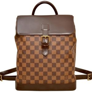 Louis Vuitton Damier Ebene Soho Backpack Bag
